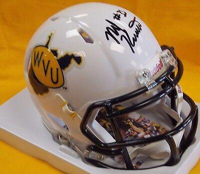 Nick Kwiatkoski Signed West Virginia Mountaineers Throwback Mini Helmet JSA   eBay