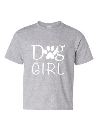 Dog Girl Love Dogs Bark Puppy Paw Match w Pets Dogs Dog Youth/&Kids T-Shirt