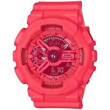 Casio G Shock Vivid Color Red Pink Analog Digital Womens Watch GMAS110VC-4A
