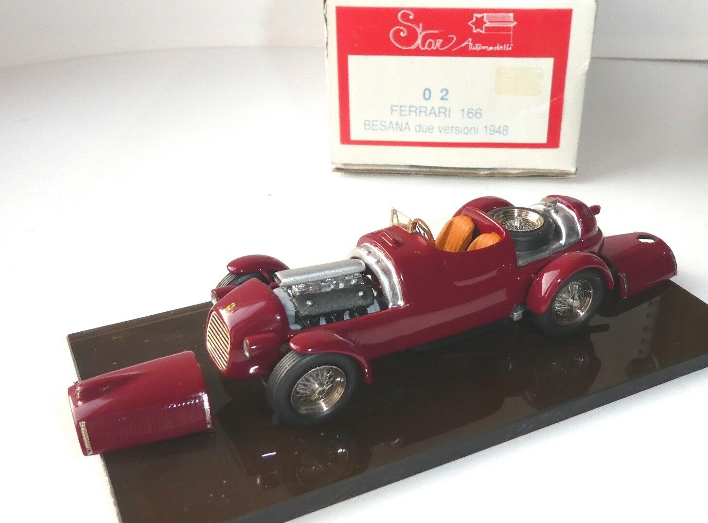 FERRARI 166 Besana 1948 OPEN ENGINE SUPER DETAILED, TRON star 2, 1:43 n bbr amr
