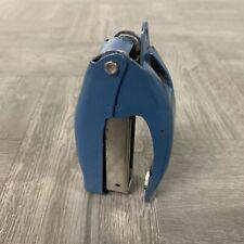 Vintage Swingline Cub Plier Hand Stapler No 49 Teal Blue Cool Mcm Color