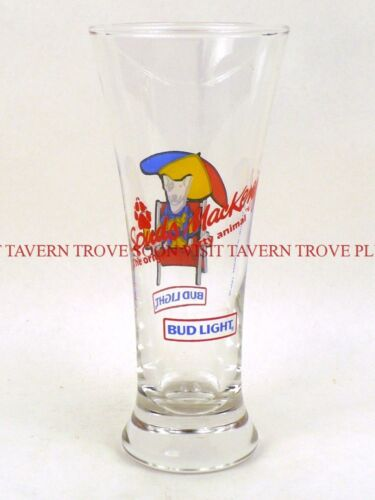 Original 1987 Spuds Mackenzie Bud Light Beer flared ACL glass TavernTrove
