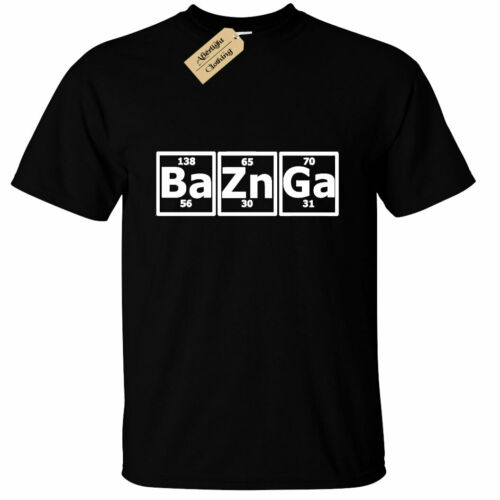 KIDS BOYS GIRLS Bazinga funny geek T-Shirt cooper periodic big bang sheldon nerd