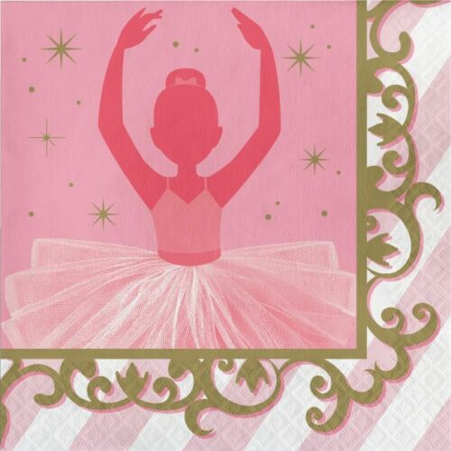 Twinkle Toes Ballerina Lunch Napkins Girls Birthday Ballerina Party