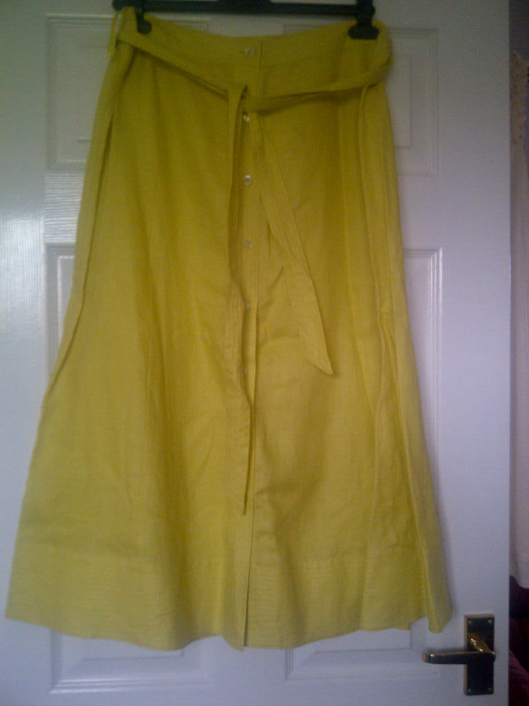 Laura Ashley Yellow Skirt - new with labels