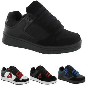 BOYS-BLACK-SCHOOL-SHOES-KIDS-GIRLS-SKATE-BOOTS-TRAINERS-BACK-TO-SCHOOL-SIZE-13-6