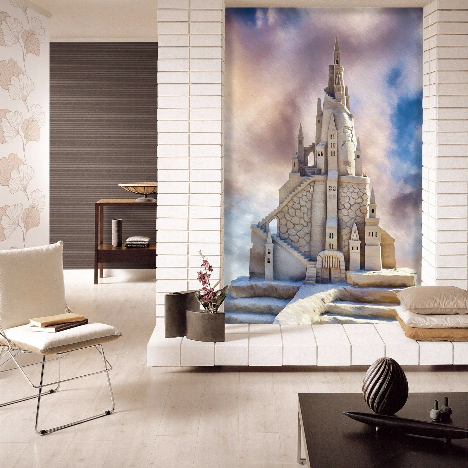 3D castle stone picture Wall Paper Print Decal Wall Wall Wall Deco Indoor wall Mural e64163