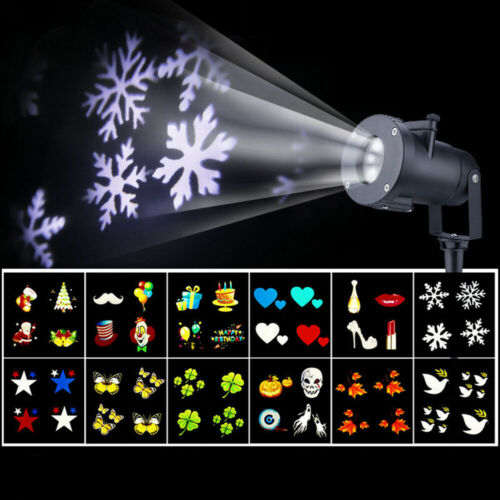 Moving LED Projector Light Snowflake Outdoor Christmas LED Lamp Garden Decor
