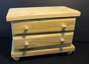 Image Is Loading Unfinished Wood 2 Drawer Chest Great Size For