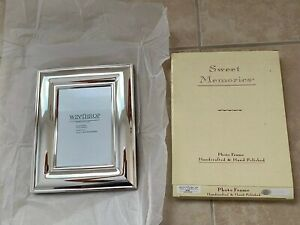Freestanding-WINTHROP-Silver-Plated-Frame-for-5-x-7-034-Photo-Picture-Handcrafted