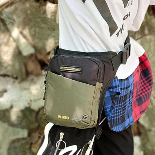Men Oxford Belt Fanny Waist Pack Sports Motorcycle Rider Thigh Hip Leg Drop Bag