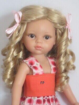 """perruque courte brune pour poupée type Paola Reina-T20//22cm-Doll wig sz8//9/"""""""