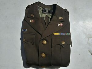 Details about WW2 US Army Signal Corp Chocolate Officer's Tunic 66th  Infantry Captain Size 40