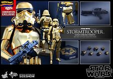 Hot Toys Star Wars Gold Chrome Stormtrooper Convention Exclusive NEW Sealed