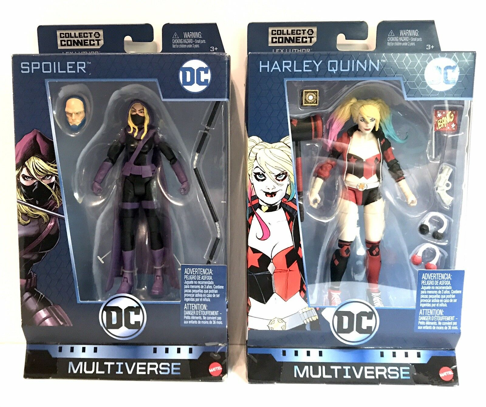 DC COMICS MULTIVERSE SPOILER & HARLEY QUINN  LEX LUTHOR WAVE  EXCLUSIVE