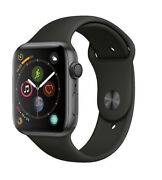 Apple Watch Gen 4 Series 4 44mm Space Gray Aluminum - Black Sport Band MU6D2LL/A