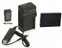 Battery + Charger For Sanyo Vpc-hd1000 Vpc-wh1bl Vpc-wh1ex Vpc-wh1gx Vpcfh11