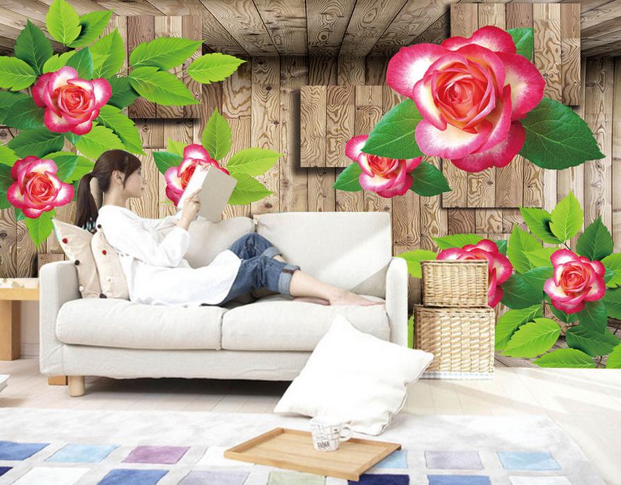 3D Holzmaserung Blaumen 854 Tapete Wandgemälde Tapete Tapeten Bild Familie DE | ein guter Ruf in der Welt  | Neuartiges Design  | Reparieren