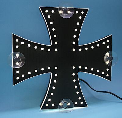Motiv 403/_Oldschool Lkw LED Schild für die Frontscheibe Kreuz