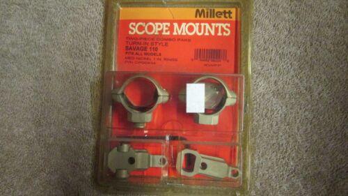 Savage 110 Millett Scope Mounts Two-Piece Combo G 12 Turn-In Style
