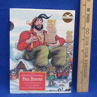 1993 Rabbit Ears Mini Book & Cassette Tape Story Paul Bunyan & Babe Blue Ox