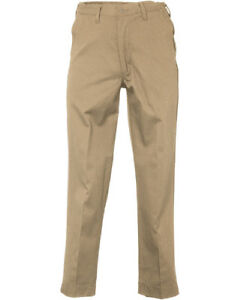 Men/'s Work Pants Cargo Pocket Black Industrial Uniform Elastic Waist REED