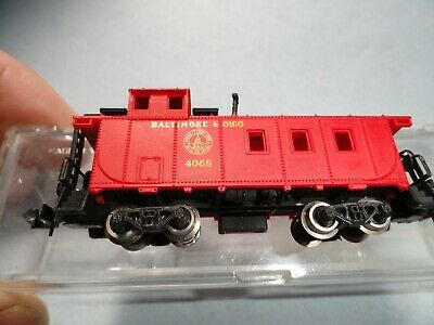 N Scale Model Railroads & Trains N-scale Bachmann Caboose Baltimore & Ohio # 4068 Clean Preowned & In A Box