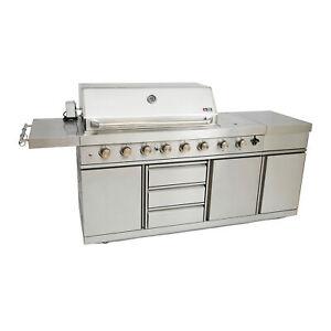 Details zu Outdoorküche Gasgrill Gas Grill Outdoor Küche Gartenküche BBQ  Außenküche B-Ware