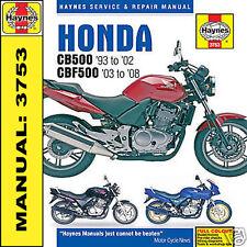 Haynes Manual Honda CB500 CBF500 1993-2008 3753 Nuevo