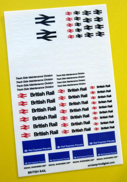 British rail code 3 43rd scale high detail stickers decals diecast o gauge