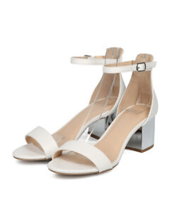 ba9a76e65d7 Details about New Women Wild Diva Larina-29B Open Toe Minimalist Metallic  Block Heel Sandal
