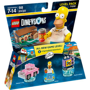 LEGO-DIMENSIONS-71202-LEVEL-PACK-The-Simpson-Homer-costruzioni-nuovo-imballato