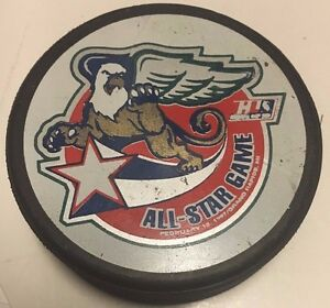 1997 IHL All-Star Game Used Hockey Puck Grand Rapids Griffins
