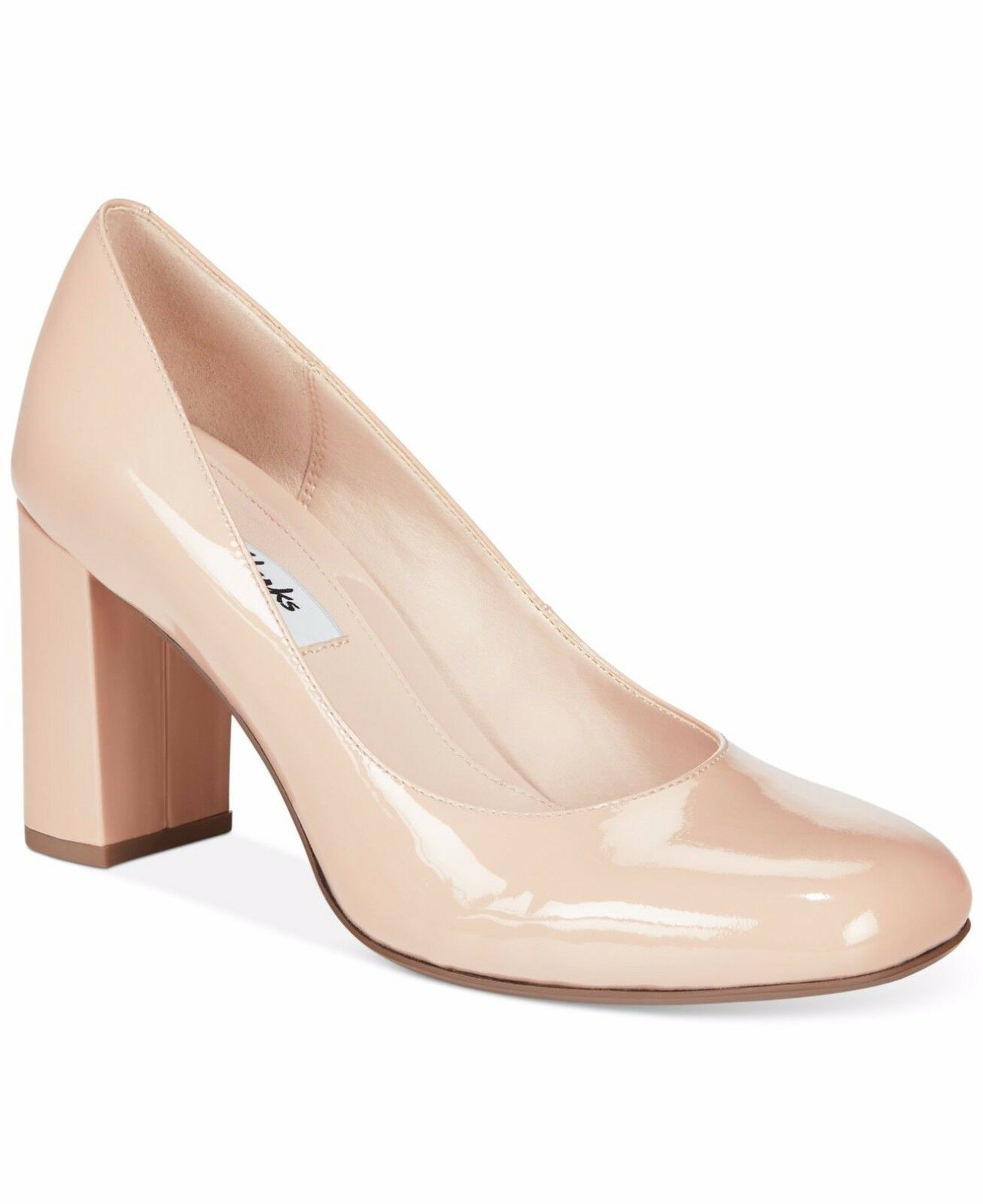 Clarks Nude Patent Leather shoes heels 7 41 D
