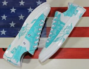 CONVERSE-Chuck-Taylor-ALL-STAR-OX-Low-70-UNRELEASED-SAMPLE-White-Blue-Rose-sz-9