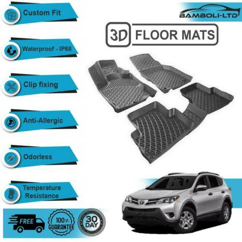 Black 3D Molded Interior Car Floor Mat for Toyota RAV4 2013/>UP