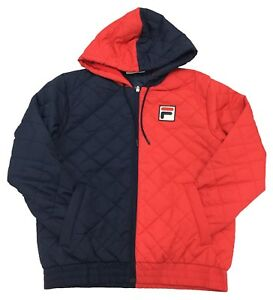 Details about Fila Chinese RedPeacoat Sawyer Quilted Jacket