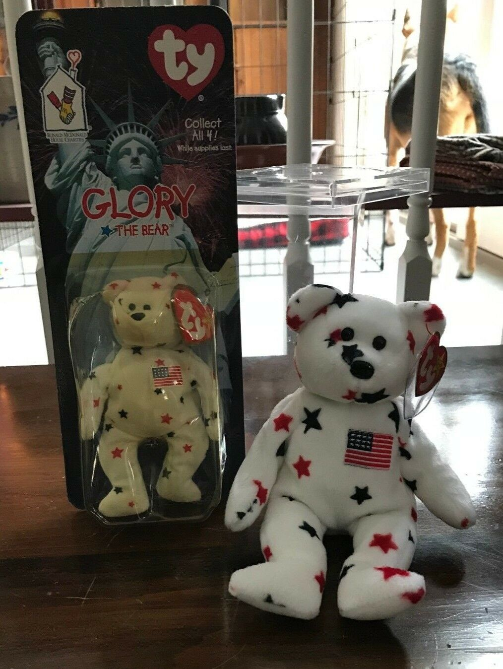 TY Beanie Baby GLORY w McDonald collectible - RARE - Tag Error - new