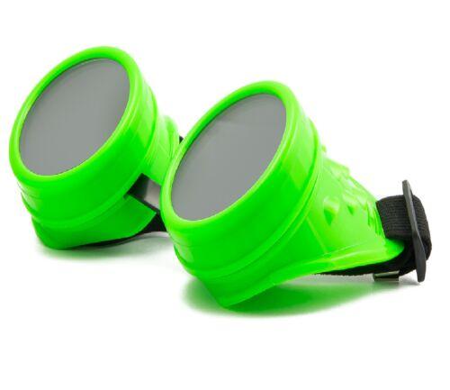 CYBER GOGGLES STEAMPUNK GOTH OVAL PLASTIC WELDING  SUNGLASSES 100/% UV400