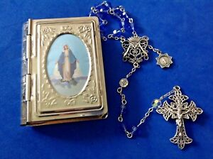 69e5b5e26 Image is loading Custom-SWAROVSKI-Crystal-Rosary-MIRACULOUS-Rosary -Case-Sapphire-