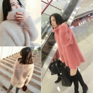 Women-Fur-Baggy-Pullovers-Turtleneck-Cashmere-Knitted-Winter-Coat-Sweater-Zsell
