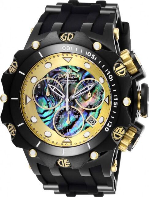 New Mens Invicta 26590 54mm Venom Hybrid Swiss Chronograph Abalone Dial Watch