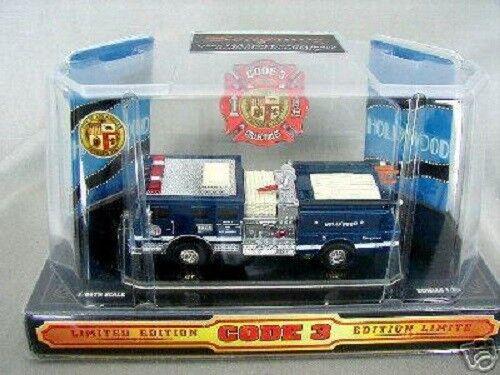 precios ultra bajos Código 3 autobomba-la Hollywood Azul 12303 1 64 64 64 Scale Die Cast Camión  Obtén lo ultimo