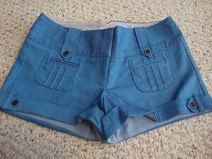 Women-039-s-juniors-CHARLOTTE-RUSSE-blue-shorts-5