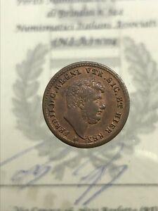 Royaume-de-Naples-Ferdinand-II-de-Borbone-1-2-Tornese-1853-Expertise-FDC
