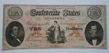 $10 The Confederate States of America 1861 T-26