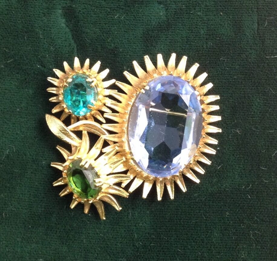 e1c9718dbf5 CHRISTIAN 1967 BURST COLOR GLASS BROOCH OF DIOR nvilkv21525-Brooches ...