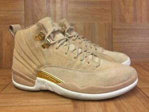 3eb2981b5eea RARE🔥 Nike Air Jordan 12 XII Retro Vachetta Tan Gold Women s Sz 9.5 ...