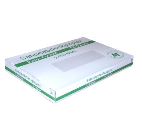 2000 Bg Sahneabdeckpapier 16x22cm Euro-Format Alternative zu 18x24cm