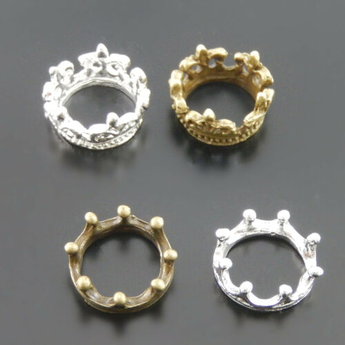 40pcs Assorted Colors Alloy Crown Shaped 13*13mm Pendant Charm Jewelry Crafts